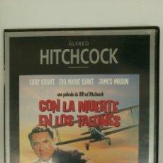 Cine: CON LA MUERTE EN LOS TALONES (1959), DE ALFRED HITCHCOCK, CON CARY GRANT, EVA MARIE SAINT Y JAMES M. Lote 76263087