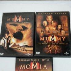 Cine: LA MOMIA ( 1, 2 Y 3.) LA 2 CON 2 DISCOS, TOTAL 4 DISCOS. Lote 76770789