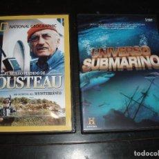 Cine: DVD NATIONAL GEOGRAPHIC EL MUNDO PERDIDO DE COUSTEAU,UNIVERSO SUBMARINO. Lote 31657942