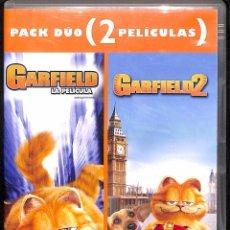 Cine: PACK DÚO: DVD GARFIELD/ GARFIELD 2. Lote 50781679