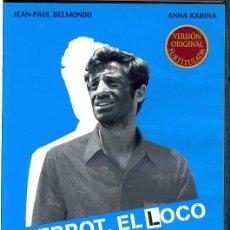 Cine: PIERROT EL LOCO DVD (GODARD) UN VIAJE ROMÁNTICO QUE, SIN QUERERLO SE CONVIERTE EN UNA PERSECUCION. Lote 102967343