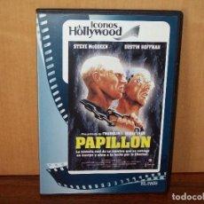 Cine: PAPILLON - STEVE MCQUEEN - DUSTIN HOFFMAN - DVD EDICION PERIODICO CAJA FINA . Lote 77814677