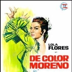 Cine: DE COLOR MORENO - LOLA FLORES DVD NUEVO. Lote 78091125