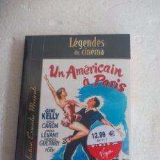 Cine: UN AMÉRICAIN IN PARIS. GENE KELLY EN FRANCÉS INGLÉS ITALIANO LEGENDES DU CINEMA SUB ESPAÑOL DVD+LIBR. Lote 78456921