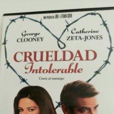 Cine: CRUELDAD INTOLERABLE, CON GEORGE CLOONEY Y CATHERINE ZETA-JONES, DIRIGEN JOEL Y ETHAN COHEN.. Lote 78548613