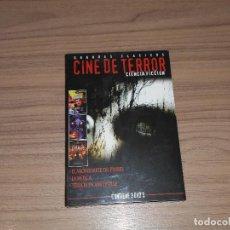 Cine: PACK TERROR 3 DVD LA MOSCA - TERROR EN AMITYVILLE - EL ABOBINABLE DR. PHIBES NUEVA PRECINTADA. Lote 144205177