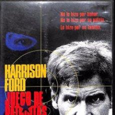 Cine: DVD JUEGO DE PATRIOTAS - HARRISON FORD. Lote 80100237