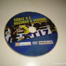 Cine: DVD CADIZ C. F. ASCENSO A SEGUNDA TEMPORADA 2008 2009 SIN CARATULA SOLO CD BAL-4. Lote 80294769