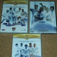 Cine: FUTBOL REAL MADRID- LOTE DE 3 DVD PRECINTADOS- VER DESCRIPCIÓN Y DETALLES-IMPORTANTE LEER. Lote 80438765