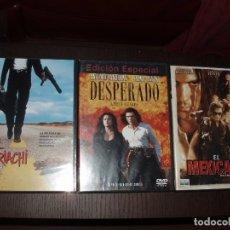 Cine: CINE DVD PELICULA EL MARIACHI,DESPERADO EDICION ESPECIAL, EL MEXICANO, 3 DVDS. Lote 81278908