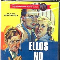 Cine: ELLOS NO OLVIDARAN DVD (MERVYN LEROY) ACLAMADO FILM QUE DESNUDA LA INTOLERANCIA DE ALGUNOS PUEBLOS. Lote 81724944