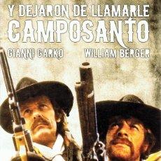 Cine: DVD Y DEJARON DE LLAMARLE CAMPOSANTO GIANNI GARKO . Lote 81933648