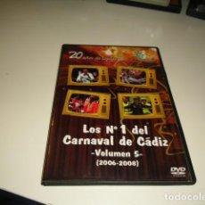 Cine: DVD LOS NUMEROS 1 DEL CARNAVAL DE CADIZ VOLUMEN 5 2006 2008 . Lote 83761012