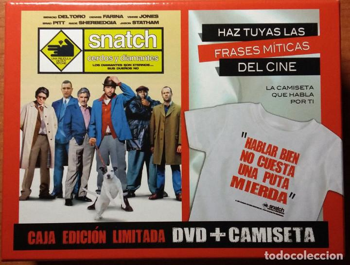 Snatch Cerdos Y Diamantes Pack Dvd Camiseta Vendido En