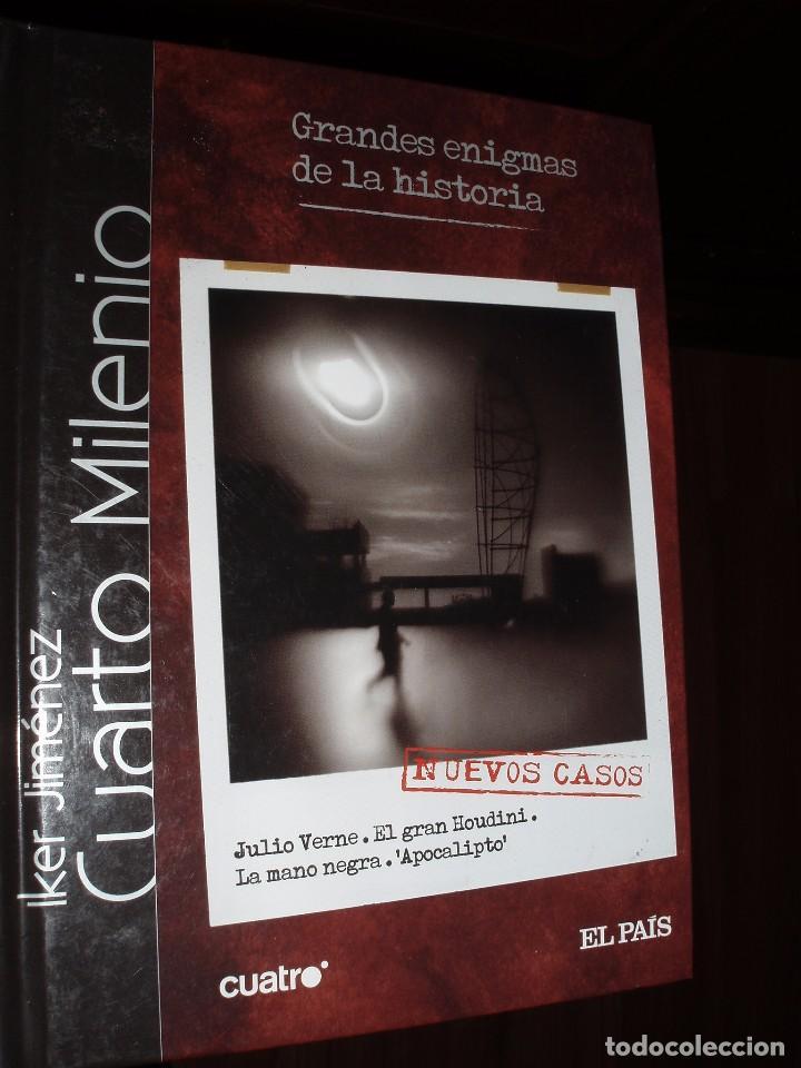 DVD Y LIBRO CUARTO MILENIO GRANDES ENIGMAS DE LA HISTORIA IKER JIMENEZ