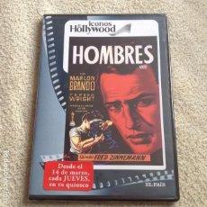 Cine: HOMBRES DVD DE FRED ZINNEMANN CON MARLON BRANDO **NUEVA Y PRECINTADA**. Lote 84963508