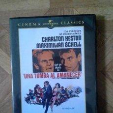 Cine: UNA TUMBA AL AMANECER - CON CHARLTON HESTON MAXIMILIAN SCHELL LESLIE NIELSEN. Lote 85373276