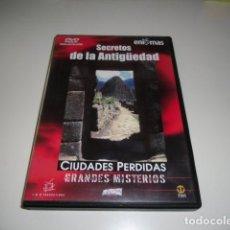 Cine: DVD SECRETOS DE LA ANTIGUEDAD CIUDADES PERDIDAS GRANDES MISTERIOS . Lote 86434656