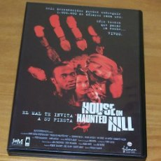 Cine: HOUSE ON HAUNTED HILL -DVD- WILLIAM MALONE, GEOFFREY RUSH, FAMKE JANSSEN, BRIDGETTE WILSON, TERROR... Lote 86466580