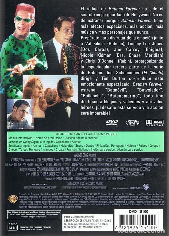 Cine: DVD BATMAN FOREVER VAL KILMER - Foto 2 - 87053248