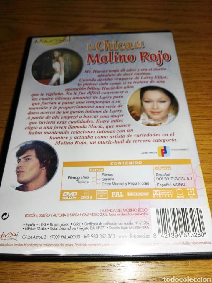 Cine: DVD LA CHICA DEL MOLINO ROJO -MARISOL-PRO. MANUEL GOYANES-CINE ESPAÑOL1973-DIVISA2010- - Foto 4 - 37054769