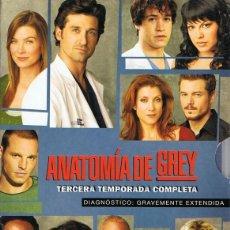 Cine: DVD ANATOMÍA DE GREY 3ª TEMPORADA COMPLETA (7 DVD). Lote 87259448