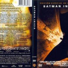 Cine: BATMAN BEGINS (EDICION DOS DISCOS). Lote 87519356