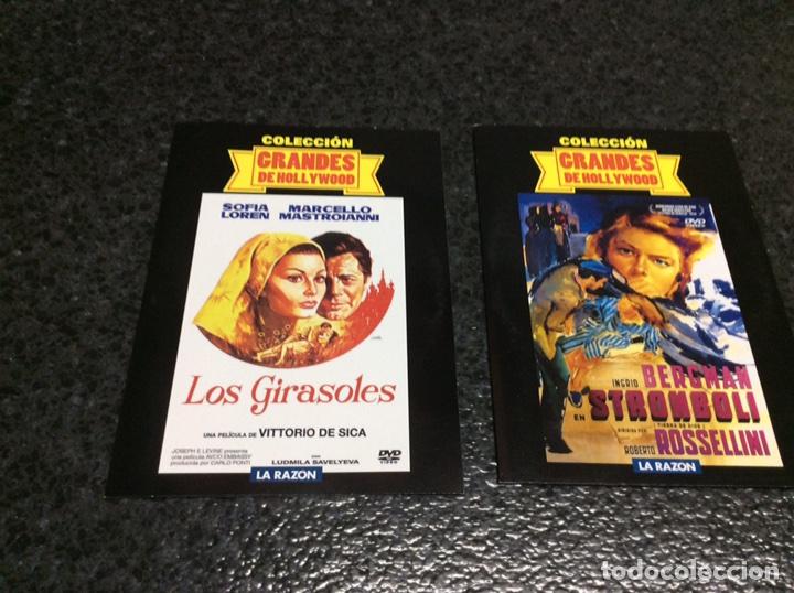 DVD - GRANDES DE HOLLYWOOD , 2 DVD - LOS GIRASOLES , STROMBOLI -DVD EN FUNDA DE CARTON -NUEVOS (Cine - Películas - DVD)