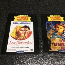 Cine: DVD - GRANDES DE HOLLYWOOD , 2 DVD - LOS GIRASOLES , STROMBOLI -DVD EN FUNDA DE CARTON -NUEVOS. Lote 244891820