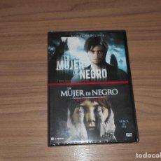 Cine: COLECCION LA MUJER DE NEGRO + LA MUJER DE NEGRO EL ANGEL DE LA MUERTE 2 DVD TERROR NUEVA PRECINTADA. Lote 98851052