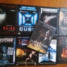 Cine: LOTE 9 DVD TERROR MIEDO TENEBRE WIDOCQ LA SEMILLA DEL MAL NAINA CUBE CREEP SHOW LA TIENDA LA NOVENA . Lote 90045248