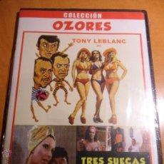Cine: TRES SUECAS PARA TRES RODRIGUEZ -COLECCION OZORES- (CAJA FINA DE PLASTICO). Lote 96604886