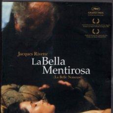 Cine: LA BELLA MENTIROSA DVD(2 DVD=229 MIN.-J.RIVETTE) POSIBLEMENTE UNA DE LAS HISTORIAS MAS BUSCADAS .... Lote 90404334