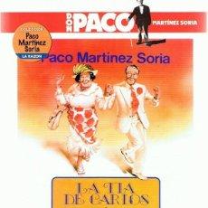 Cine: DVD LA TÍA DE CARLOS PACO MARTÍNEZ SORIA. Lote 195027001