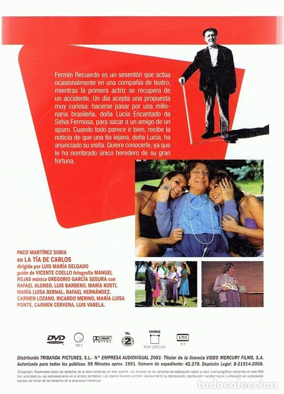 Cine: DVD LA TÍA DE CARLOS PACO MARTÍNEZ SORIA - Foto 2 - 195027001