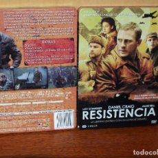 Cine: RESISTENCIA - LIEV SCHREIBER - DANIEL CRAIG-JAMIE BELL- DOBLE DVD CAJA METALICA . Lote 90531325