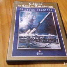 Cine: LA ULTIMA NOCHE DEL TITANIC 123 MIN USA B/N. Lote 91010830