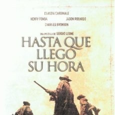 Cine: DVD HASTA QUE LLEGÓ SU HORA CLAUDIA CARDINALE . Lote 91053385