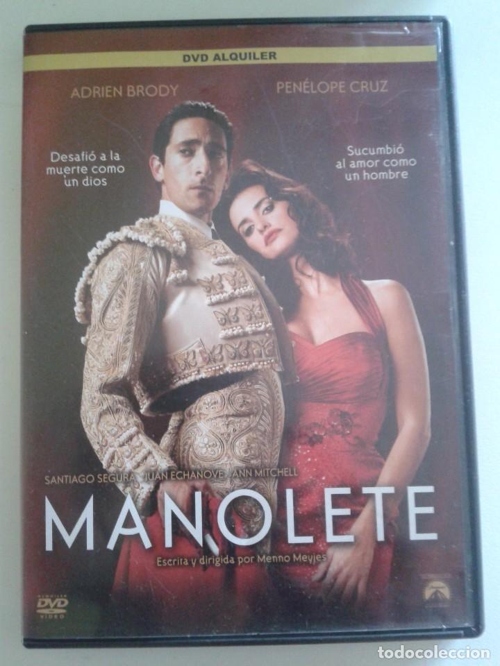 MANOLETE ** DE MENNO MEYJES CON ADRIEN BRODY, PENELOPE CRUZ, NACHO ALDEGUER, ENRIQUE ARCE ** (Cine - Películas - DVD)
