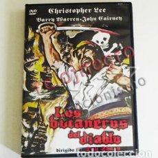 Cine: LOS BUCANEROS DEL DIABLO - DVD PELÍCULA - PIRATAS ESPAÑOLES - HONRADOS INGLESES - CHRISTOPHER LEE. Lote 91559090
