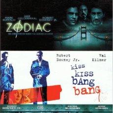 Cine: DVD ZODIAC / KISS KISS BANG BANG / SHERLOCK HOLMES ( 3 DISCOS). Lote 91726075