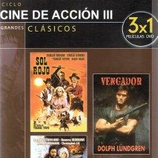 Cine: DVD CINE DE ACCIÓN III SOL ROJO. Lote 91813320