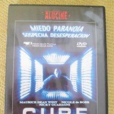 Cine: DVD CUBE - VINCENZO NATALI - CLASICO DEL SCI-FI - DESCATALOGADO. Lote 92450045