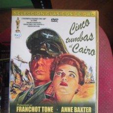 Cine: CINCO TUMBAS AL CAIRO. Lote 92774075