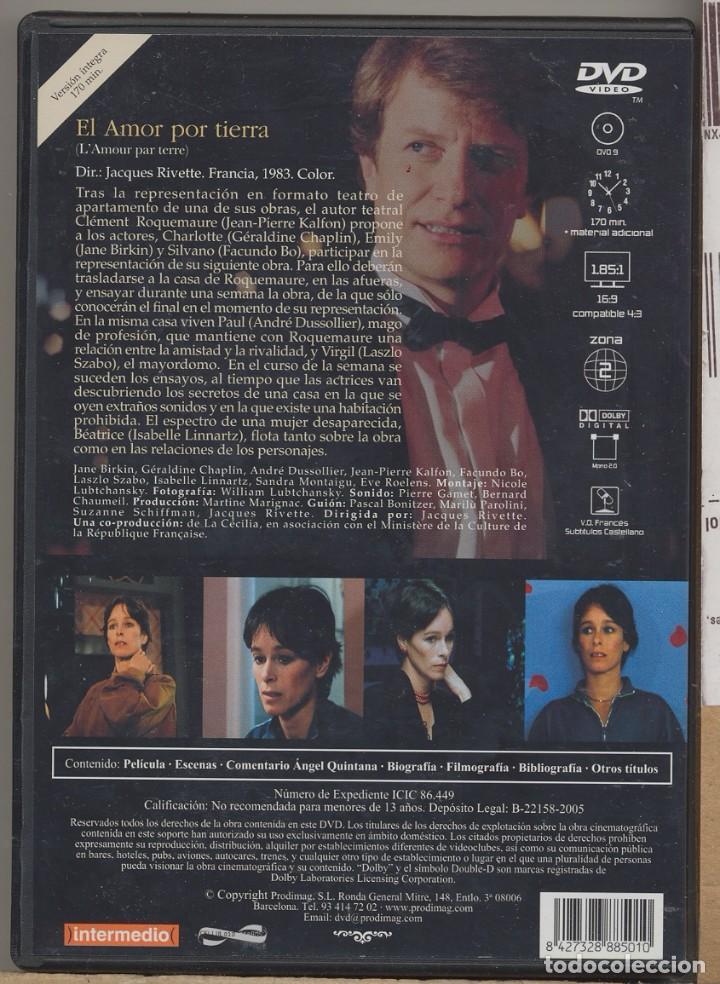 Cine: EL AMOR POR TIERRA DVD (JACQUES RIVETTE) ACTORES ENSAYAN UN DRAMA... QUE, AL FINAL SE HACE REALIDAD - Foto 2 - 93672420
