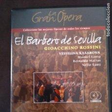 Cine: 2 DVD LA GRAN OPERA,EL BARBERO DE SEVILLA,GIOCCHINO ROSSINI. Lote 93773965