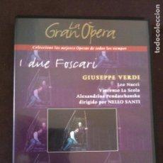 Cine: DVD LA GRAN OPERA,-I DUE FOSCARI,GIUSEPPE VERDI. Lote 93774195