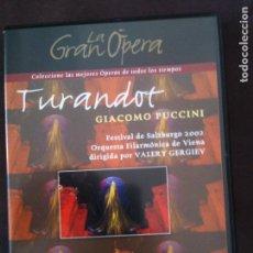 Cine: DVD LA GRAN OPERA- TURANDOT,GIACOMO PUCCINI. Lote 93774635