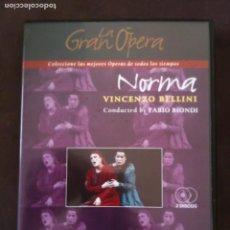 Cine: 2 DVD LA GRAN OPERA- NORMA VINCENZO BELLINI. Lote 93774715