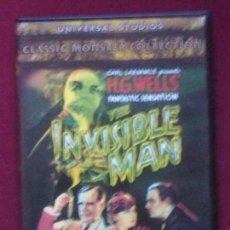 Cine: EL HOMBRE INVISIBLE [DVD.JAMES WHALE. 1933] H.G. WELLS. TERROR UNIVERSAL. DESCATALOGADO. Lote 93876565